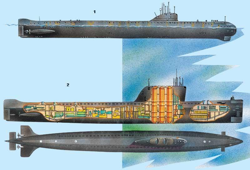 Подводный атомоход к 3 несла службу